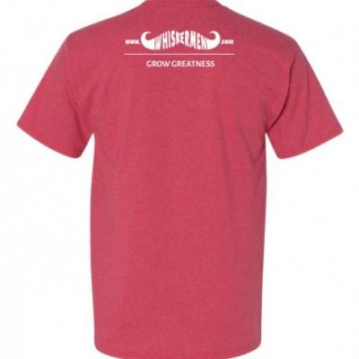 Whiskermen Mens Shirt - Heather Red