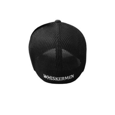 Whiskermen FlexFit Military Mesh Back Hat – Black Logo