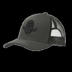 Whiskermen Snapback – Black on Gray