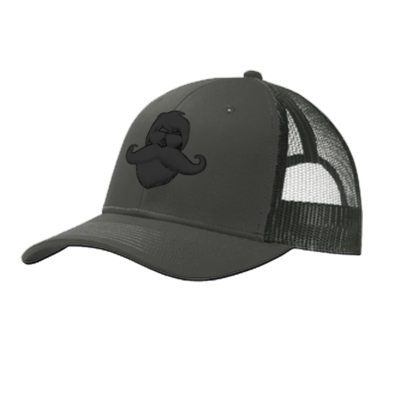 Whiskermen Snapback – Black on Gray
