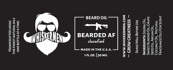 Whiskermen Beard Oil – Bearded AF