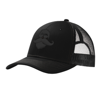 Whiskermen Snapback – Black on Black